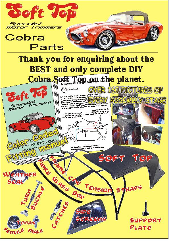 Soft Top Trimmers - COBRA KIT CAR